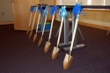 Shovels, before the groundbreaking