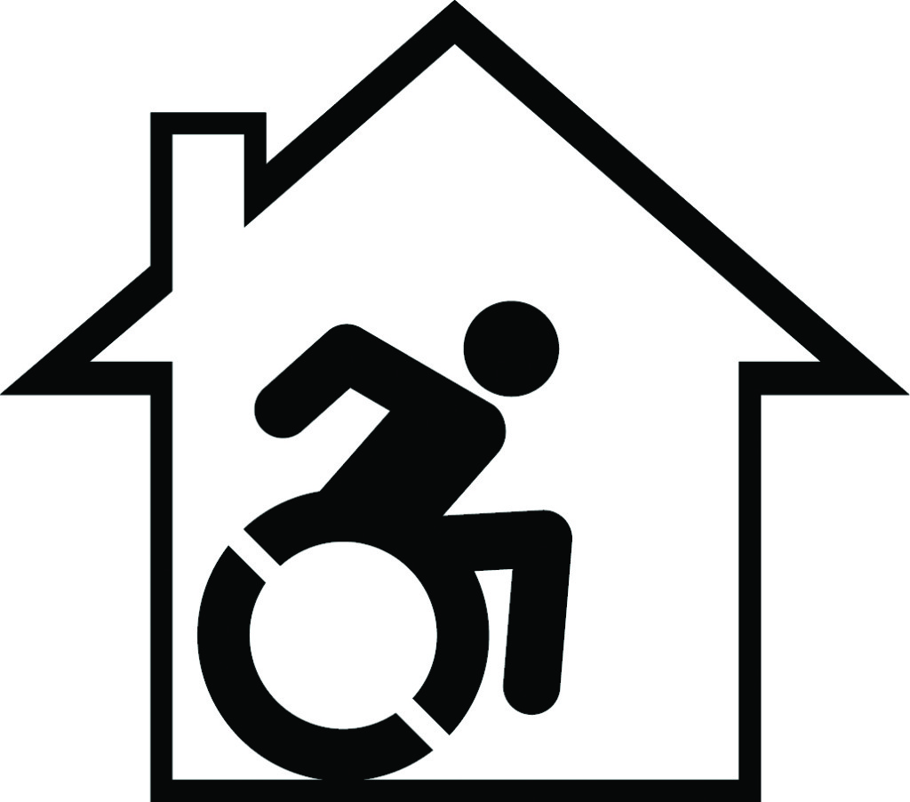 MAHO Person in Wheelchair in House Logo